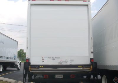 24 ft Box Truck Back Side